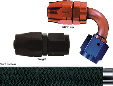 AN fittings and hoses from Aeroquip.