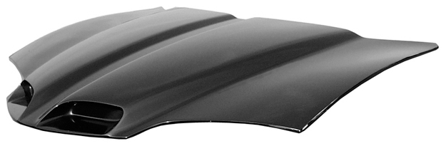 Harwoods Ram Air Hood Scoop for the 1998-2002 Firebird has two forward-facing scoops.