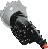 GM's TH-200 transmission with bellhousing.