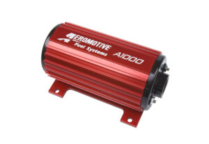 Aeromotive's electric fuel pump can be installed in-line or in-tank.