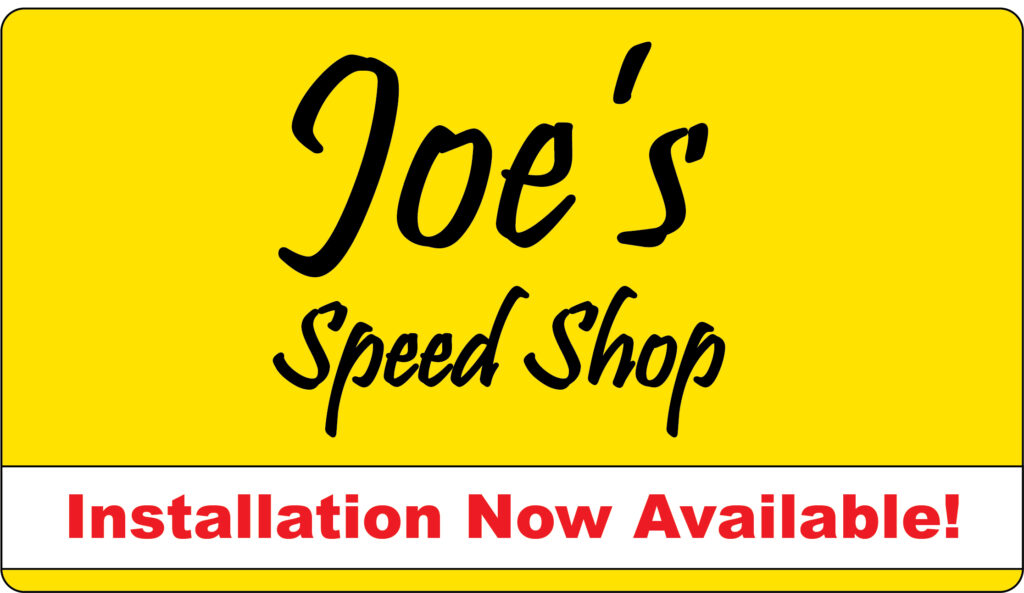 Being able to add Installation services now available to the Joe's Speed Shop sign helped bring in new business.