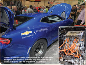 Chevrolet eCOPO Camaro with electric drivetrain is an example of the future for the electric performance aftermarket.