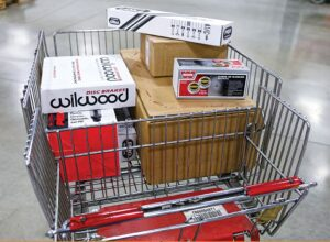 Cart of returned performance parts shows no retailer is immune from product returns.