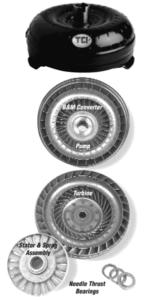 Cutaway view of torque converter components