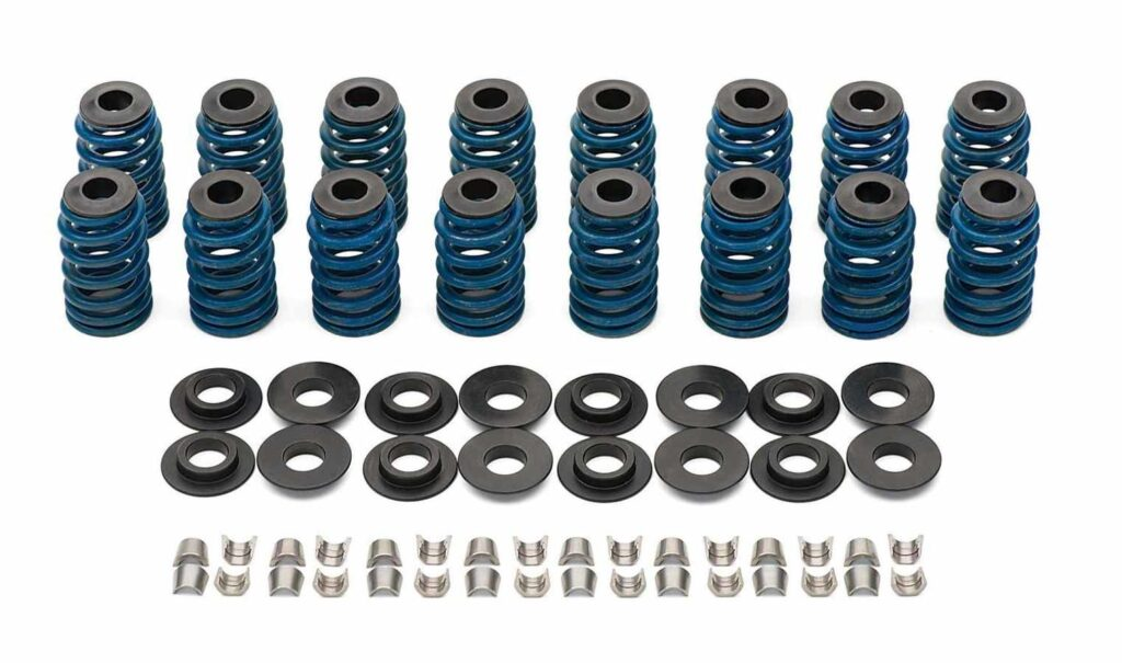 GM Performance beehive valve spring conversion kit with springs, retainers, seats, and locks.