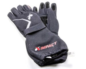 Impact double-layer nomex racing gloves provide an added layer of safety in fire.