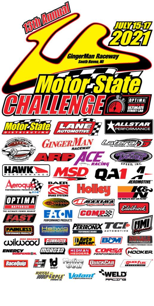 Motor State Challenge logo with sponsor logos